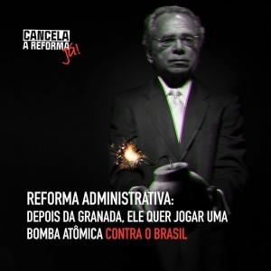 Depois da granada ele quer jogar uma bomba atômica contra o Brasil