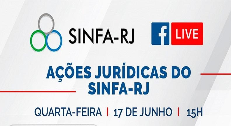 Assista aqui a live sobre Ações Jurídicas do Sinfa-RJ