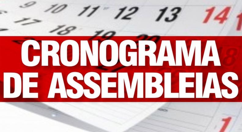 Calendário de assembleias - período até 13/03