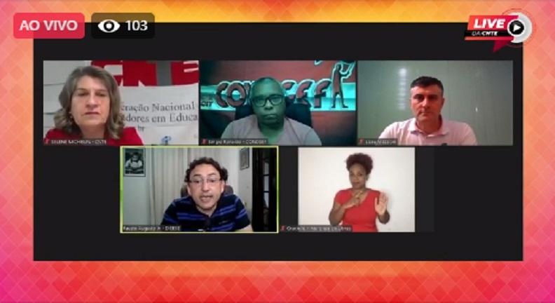 Condsef/Fenadsef participa de live da CNTE sobre reforma Administrativa