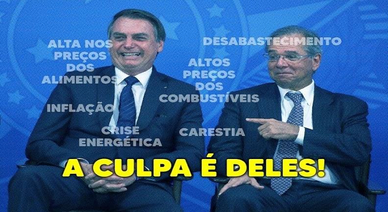 Dupla Bolsonaro-Guedes nada fez para combater a inflação e resolver a crise. Entenda