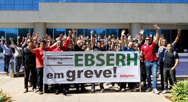 Adesão à greve dos empregados da Ebserh sobe para 16 estados e o DF