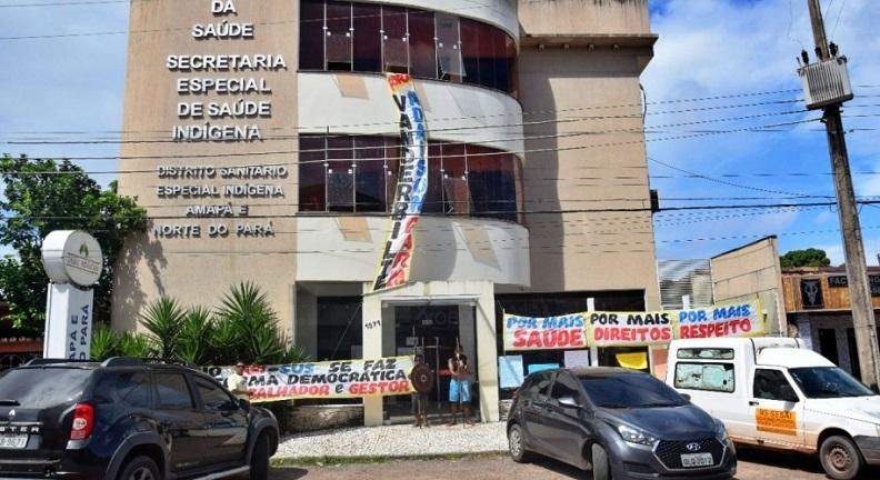 Manifestação indígena em Macapá fecha agência do DSEI e paralisa expediente