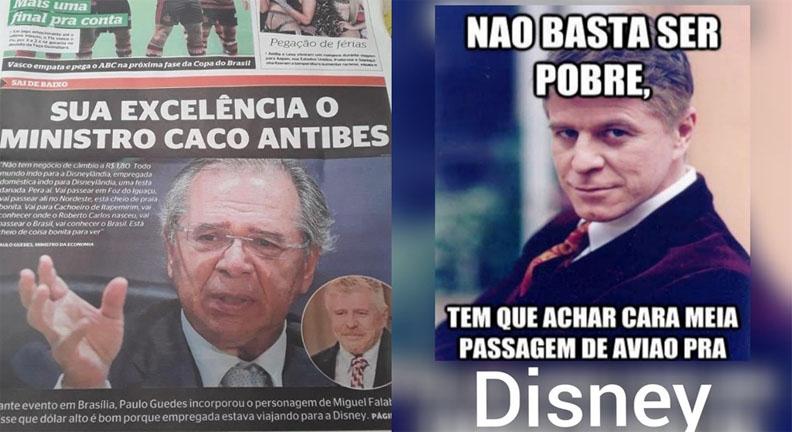 Paulo Guedes é comparado a Caco Antibes após criticar domésticas na Disney