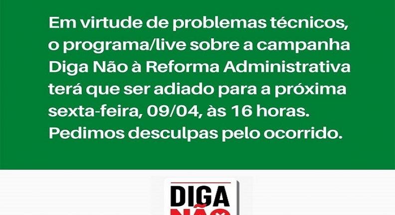 Problemas técnicos adiam debate sobre a importância do serviço público no Brasil