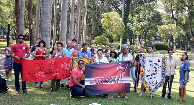 Protesto no Palácio do Catete reforça luta contra MP que extingue o Ibram