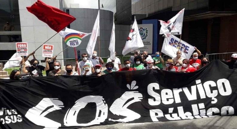 Servidores promovem atos contra a PEC 32 nos estados e em Brasília