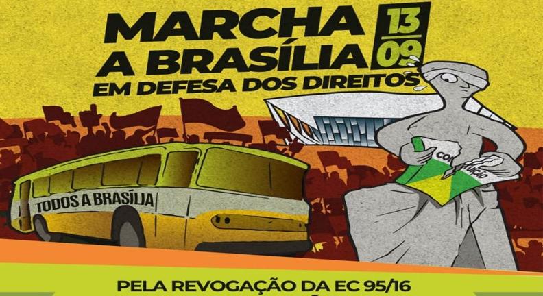 Servidores vão a Brasília cobrar fim do teto que sufoca setor público