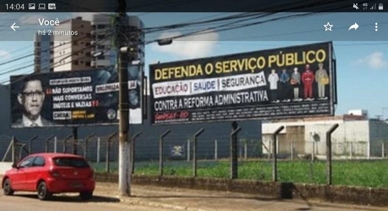 Sindsef-RO inicia campanha contra PEC 32 com outdoors e plotagem de veículos