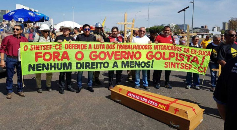 Sintsef participa da Marcha dos Servidores Federais em Brasília