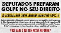 PEC 32: Novo golpe contra direitos do povo está sendo preparado no Congresso