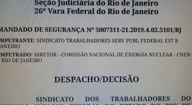 Após ação do Sintrasef, Justiça garante adicionais para servidores da CNEN