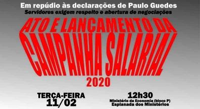 Ato em repúdio às declarações de Paulo Guedes