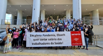 Companheiros da Ebserh-GO alertam sobre importância de se filiar ao sindicato
