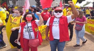Condsef/Fenadsef participa de ato em apoio a greve dos Correios