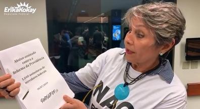 Deputada Érika Kokay comenta abaixo-assinado dos servidores contra reforma