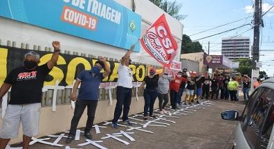 Dia de Luto e Luta em Macapá reúne centrais sindicais e movimentos sociais