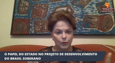 Dilma defende frentes contra privatizações e por soberania nacional