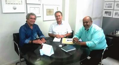 Direção do Sintsep-AL se reúne com senador Renan Calheiros