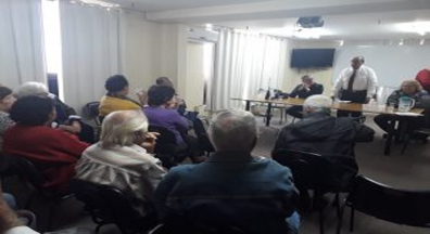 Encontro dos aposentados do Sindiserf-RS debate a reforma da Previdência