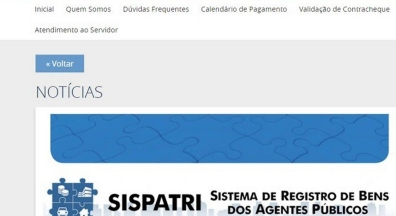 Extra detalha cadastro do servidor no eSocial e declaração de bens do Estado