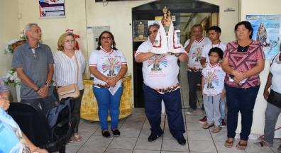 Imagem peregrina de Nossa Senhora de Nazaré visita Sindsep Amapá