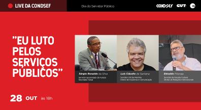 Live aborda desafios dos servidores para barrar desmonte do Estado brasileiro