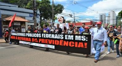 Mais de 20 mil pessoas contra a Reforma da Previdência em Campo Grande