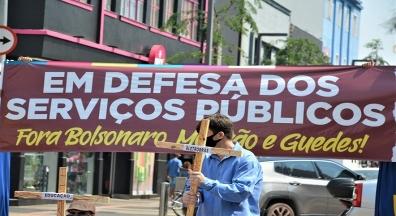 Manifestações em todo o Brasil marcam o dia nacional em defesa do setor público