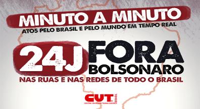MINUTO A MINUTO: Acompanhe aqui os atos deste #24JForaBolsonaro