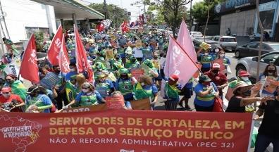 Mobilização contra a reforma Administrativa ocupa as ruas de várias cidades