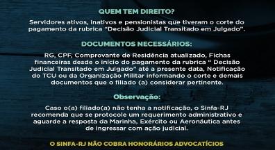 Nova ação do Sinfa-RJ: Corte do Pagamento da Decisão Judicial Transitado em Julgado