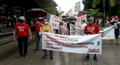 Pernambucanos foram às ruas contra o pior presidente do Brasil