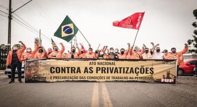 Petroleiros protestam nesta quinta e sexta contra privatizações e terceirização