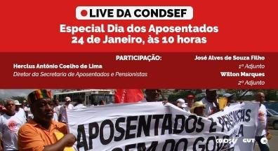 Semana de atos em defesa do setor público começa marcada por Dia dos Aposentados