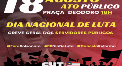 Servidores públicos realizam ato contra a PEC 32 da Reforma Administrativa