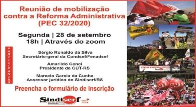 Sindiserf-RS promove reunião de mobilização contra a reforma administrativa