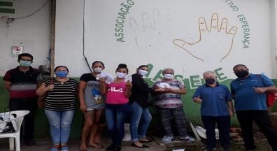 Sindiserf-RS realiza doação de máscaras para Associação de Reciclagem