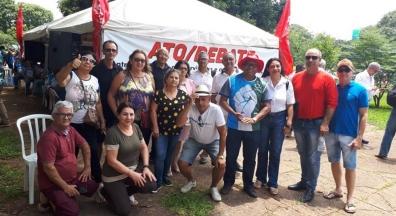 Sindsef-RO participa de ato em Brasília contra privatizações
