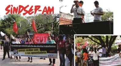 Sindsep-AM se une a centrais e movimentos sociais no Dia do Basta