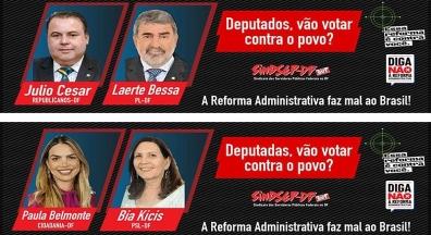Sindsep-DF promove campanha nas ruas de Brasília contra a PEC 32