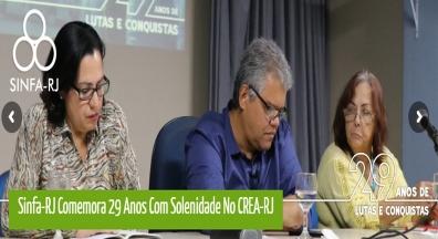 Sinfa-RJ comemora 29 anos com solenidade no CREA-RJ