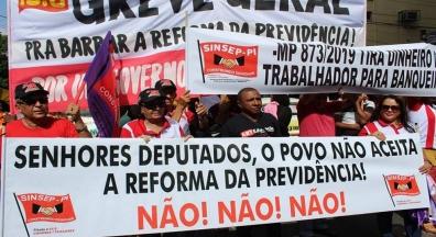 Sinsep-PI vai às ruas em ato contra a Reforma da Previdência de Bolsonaro