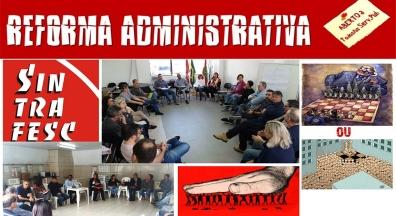 Sintrafesc promove debate sobre Reforma Administrativa nos órgãos de sua base