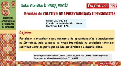 Sintrafesc realiza reunião de Aposentados/as e Pensionistas