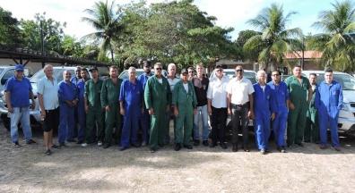 Sintsef/CE acompanha reforma na base da UBV-Eusébio