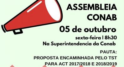 Sintsef-CE convoca assembleia de empregados da Conab