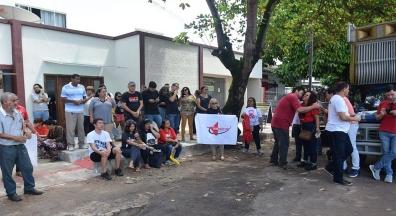 Trabalhadores do Amapá fazem manifestação contra a reforma da Previdência Social